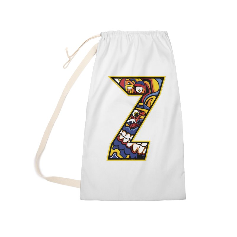 Crazy Face_Z004 Accessories Laundry Bag Bag by Art of Yaky Artist Shop