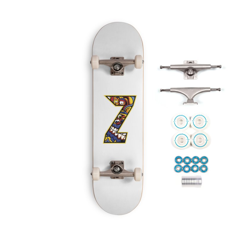 Crazy Face Aplphabet (Z) Accessories Skateboard by Yaky's Customs