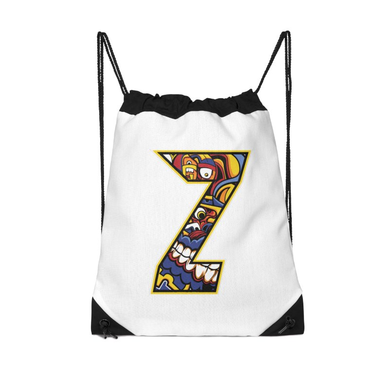 Crazy Face_Z004 Accessories Bag by Art of Yaky Artist Shop