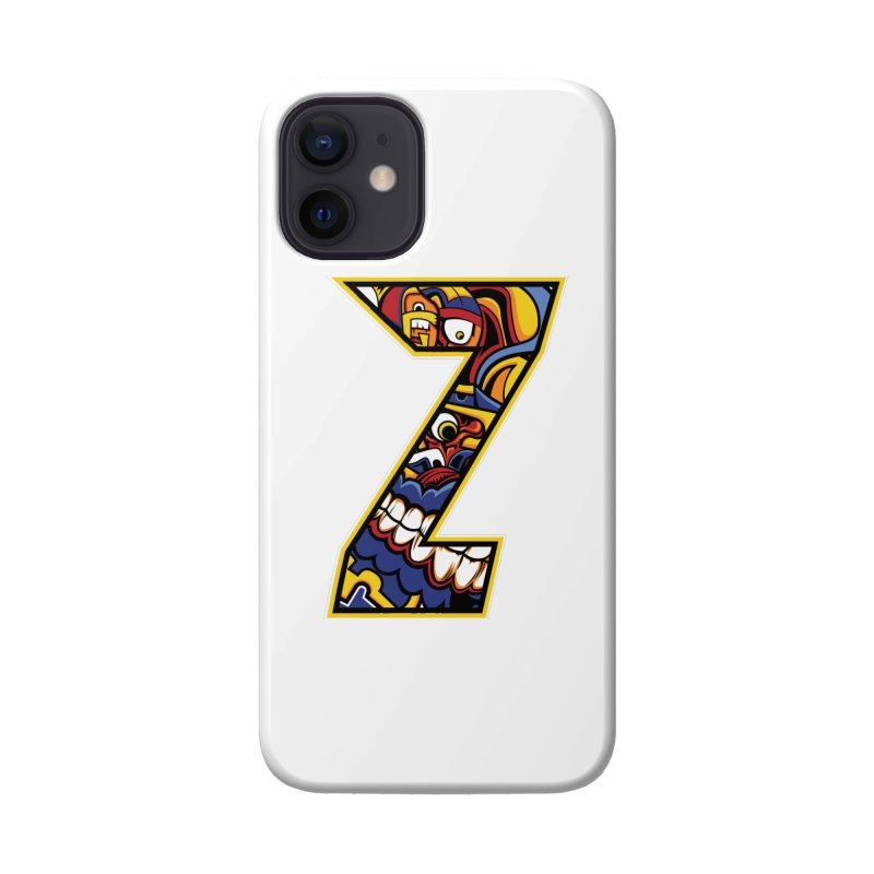 Crazy Face Aplphabet (Z) Accessories Phone Case by Yaky's Customs