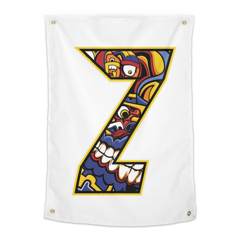 Crazy Face Aplphabet (Z) Home Tapestry by Yaky's Customs