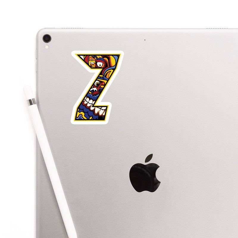 Crazy Face_Z004 Accessories Sticker by Art of Yaky Artist Shop