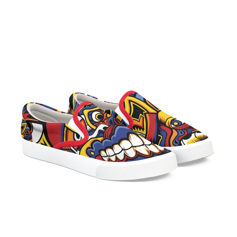 IFC_Design_C02 Men's Slip-On Shoes by Art of Yaky Artist Shop