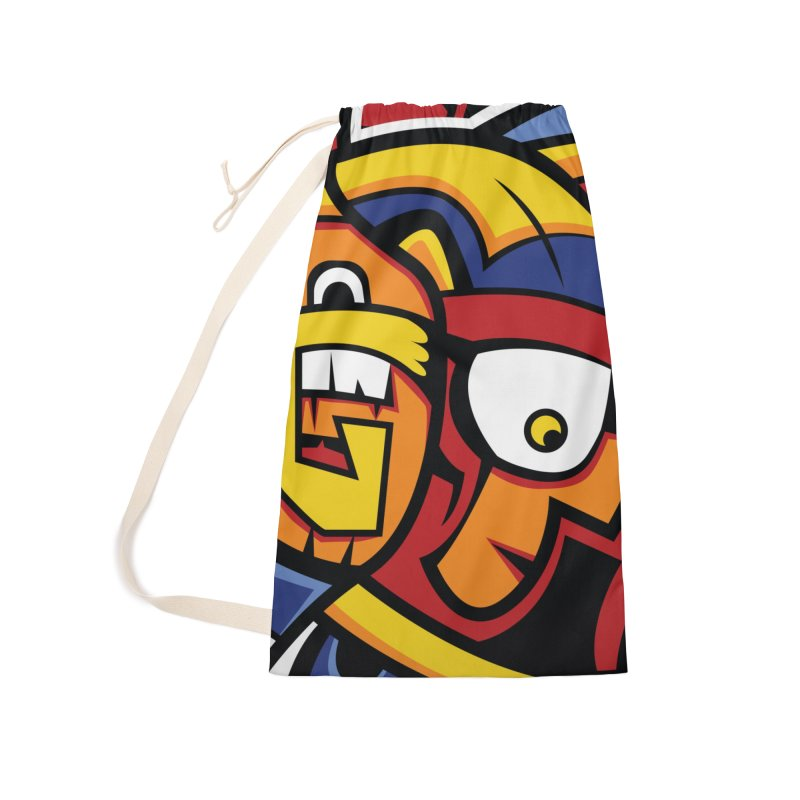 Indigenous Faces_Aztec Warrior Accessories Bag by Yaky's Customs