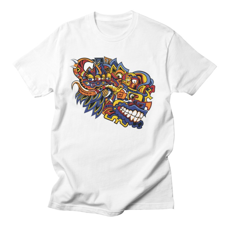 Indigenous Faces_Aztec Warrior Men's T-Shirt by Yaky's Customs