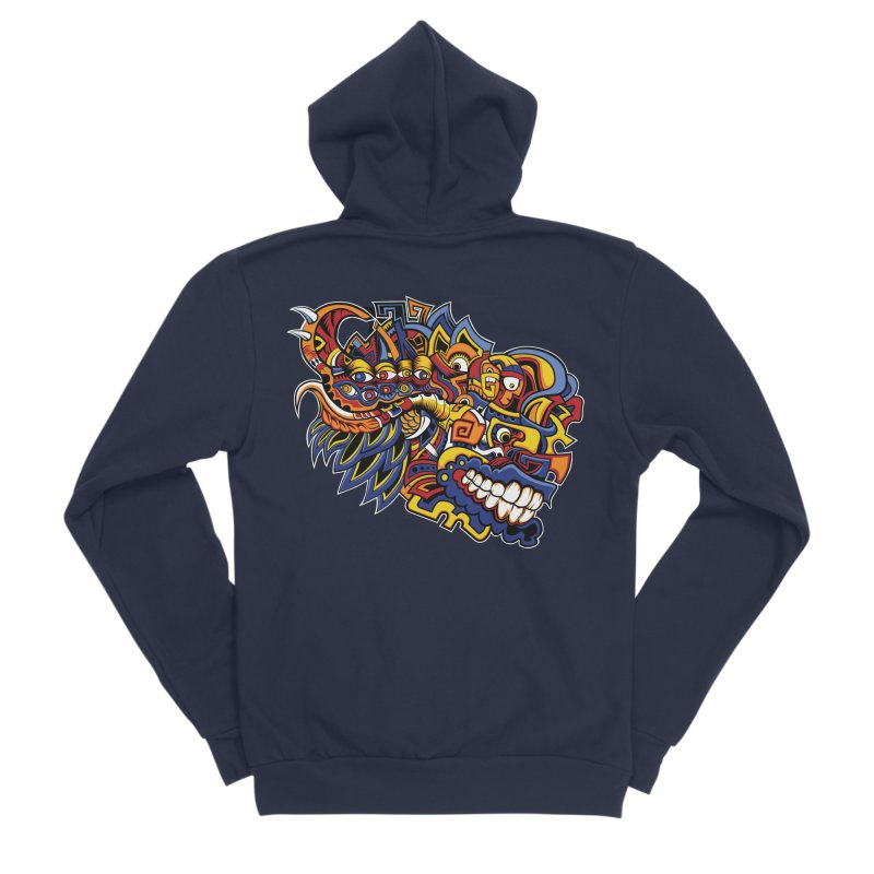 IFC_Design_C02 Women's Sponge Fleece Zip-Up Hoody by Art of Yaky Artist Shop