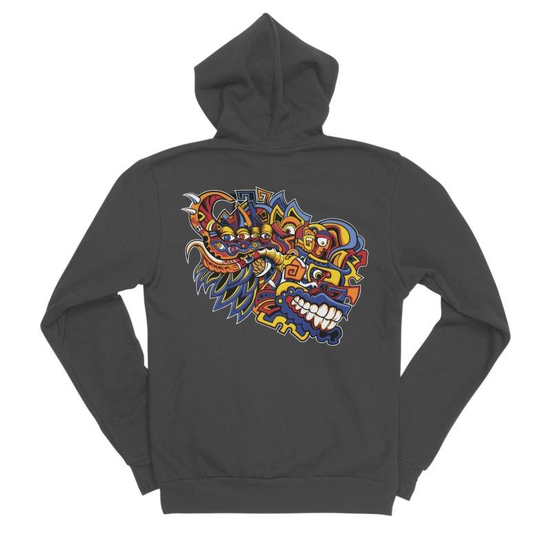 IFC_Design_C02 Men's Sponge Fleece Zip-Up Hoody by Art of Yaky Artist Shop