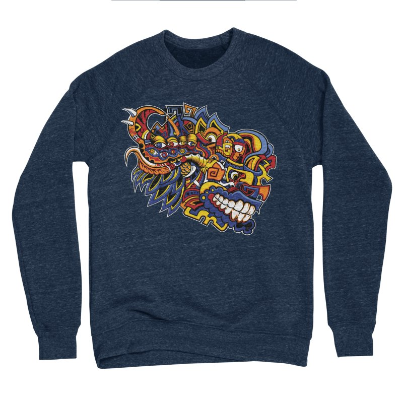 IFC_Design_C02 Men's Sponge Fleece Sweatshirt by Art of Yaky Artist Shop