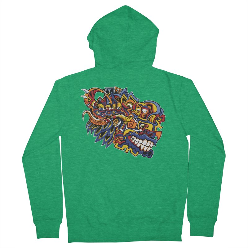 IFC_Design_C02 Men's Zip-Up Hoody by Art of Yaky Artist Shop
