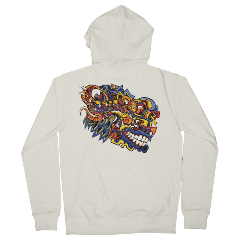 IFC_Design_C02 Women's French Terry Zip-Up Hoody by Art of Yaky Artist Shop