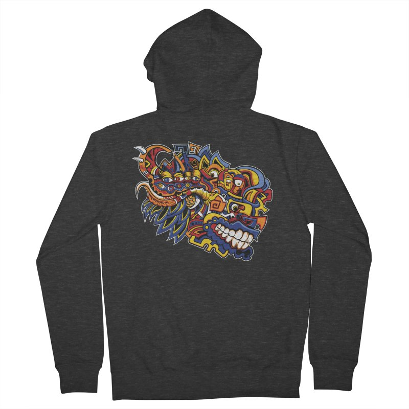 IFC_Design_C02 Men's French Terry Zip-Up Hoody by Art of Yaky Artist Shop
