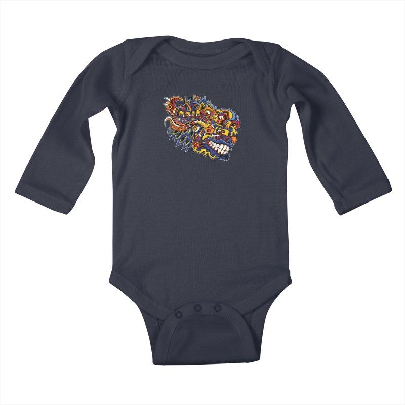 IFC_Design_C02 Kids Baby Longsleeve Bodysuit by Art of Yaky Artist Shop