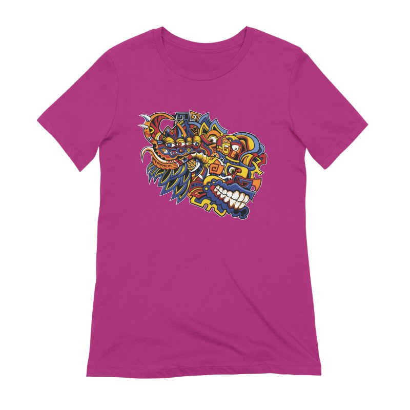 Indigenous Faces_Aztec Warrior Women's T-Shirt by Yaky's Customs