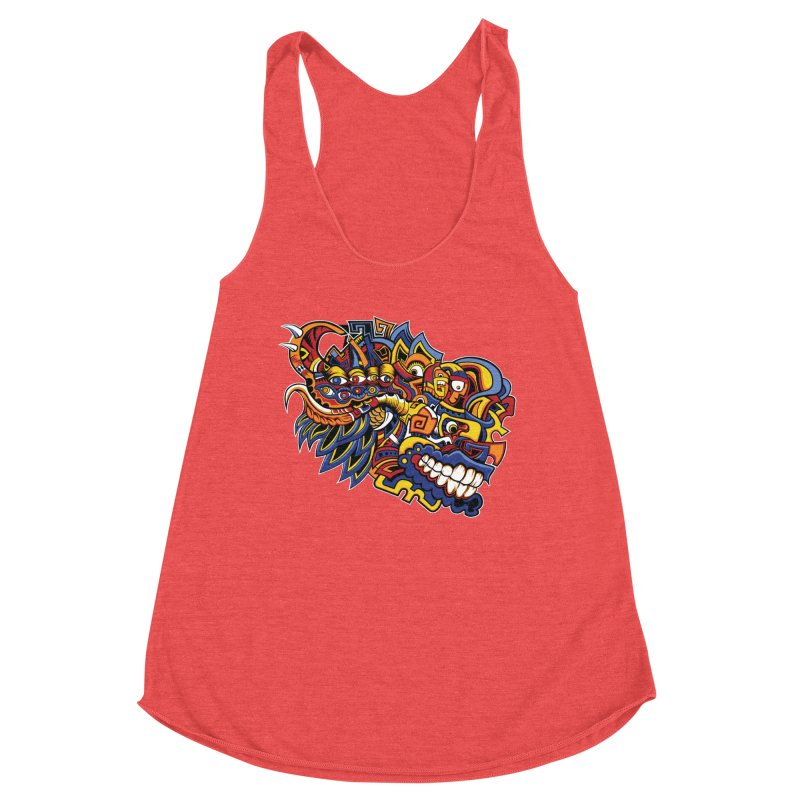 Indigenous Faces_Aztec Warrior Women's Tank by Yaky's Customs
