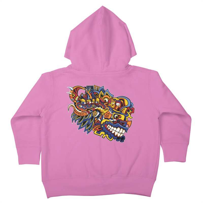 IFC_Design_C02 Kids Toddler Zip-Up Hoody by Art of Yaky Artist Shop