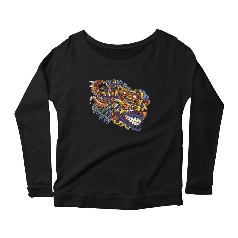 IFC_Design_C02 Women's Scoop Neck Longsleeve T-Shirt by Art of Yaky Artist Shop