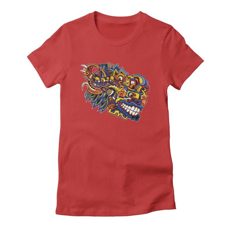 IFC_Design_C02 Women's Fitted T-Shirt by Art of Yaky Artist Shop