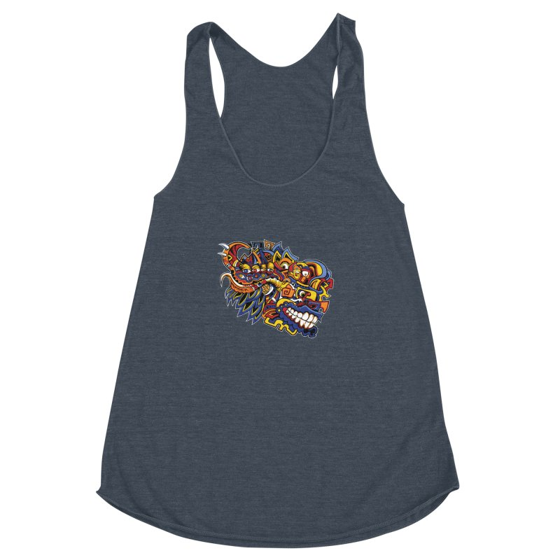 IFC_Design_C02 Women's Racerback Triblend Tank by Art of Yaky Artist Shop