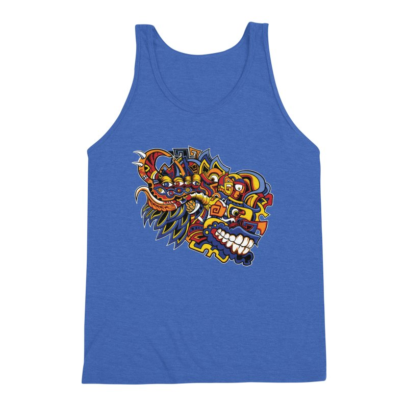IFC_Design_C02 Men's Triblend Tank by Art of Yaky Artist Shop