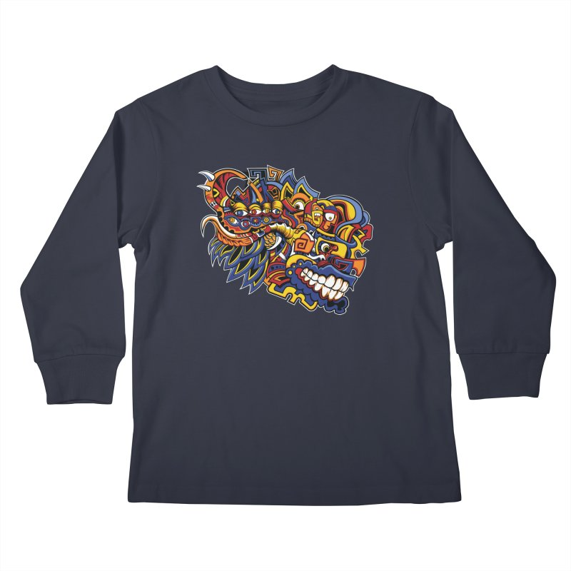 IFC_Design_C02 Kids Longsleeve T-Shirt by Art of Yaky Artist Shop