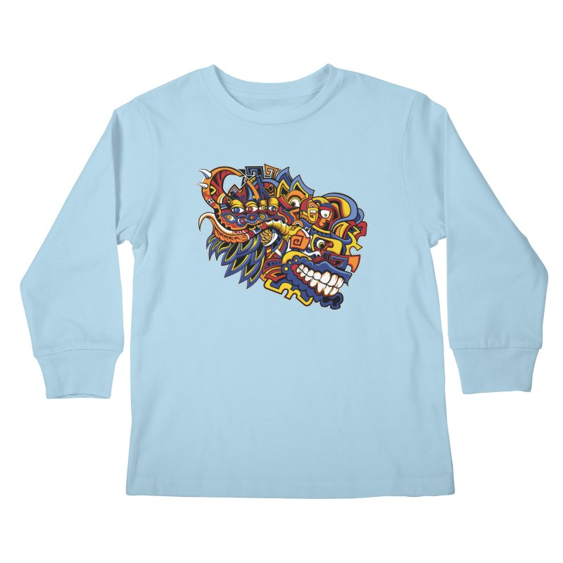 IFC_Design_C02 Kids Longsleeve T-Shirt by Art of Yaky Artist Shop
