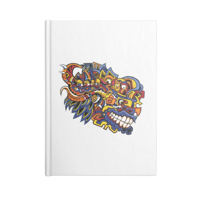 IFC_Design_C02 Accessories Lined Journal Notebook by Art of Yaky Artist Shop