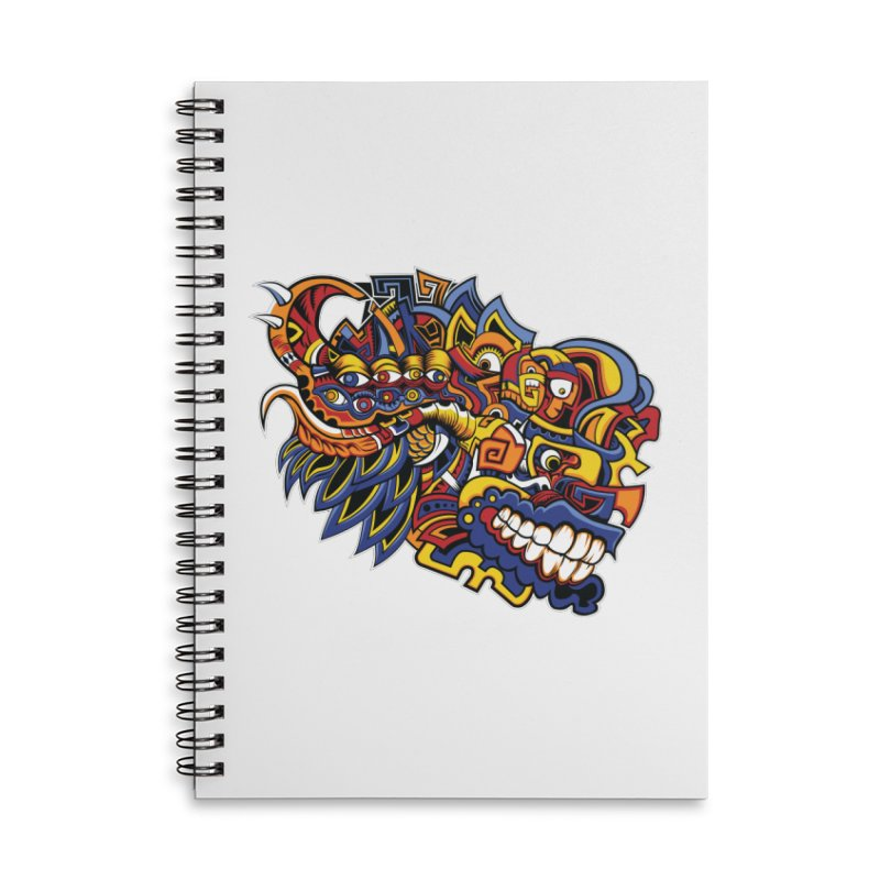 IFC_Design_C02 Accessories Lined Spiral Notebook by Art of Yaky Artist Shop