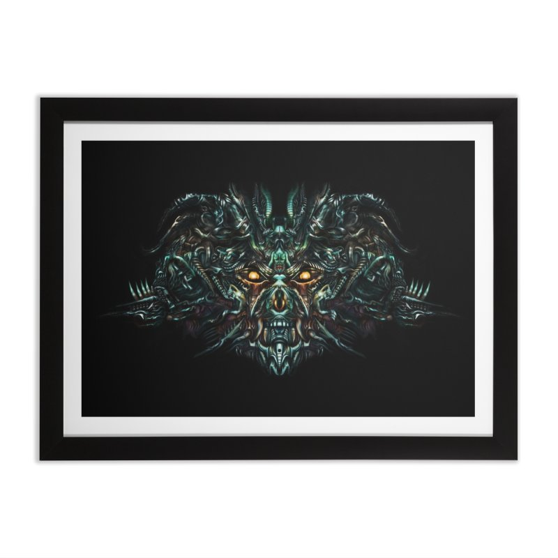 VK_SkullA Home Framed Fine Art Print by Art of Yaky Artist Shop