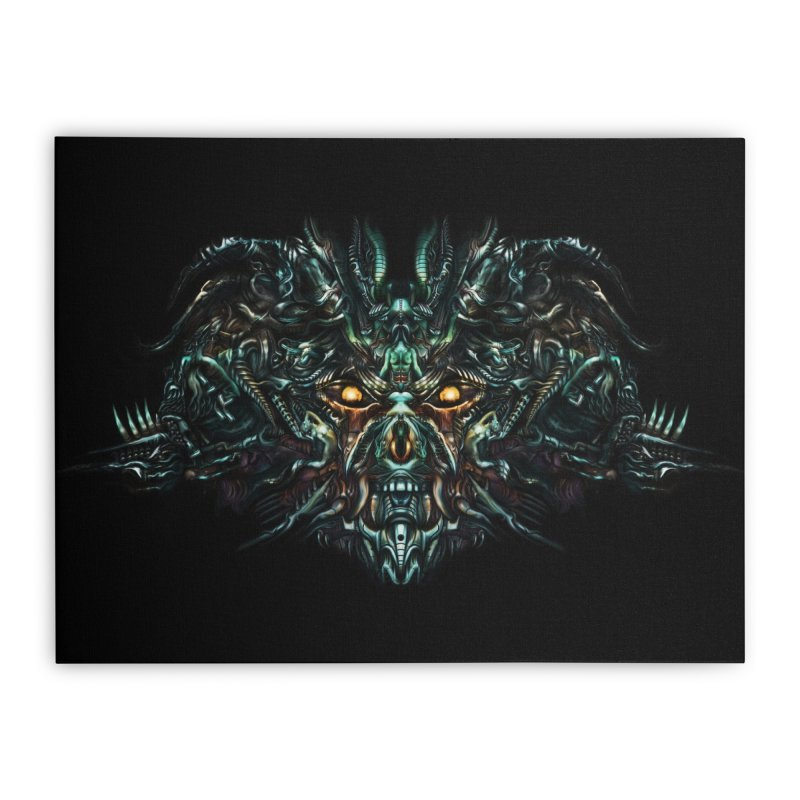 VK_SkullA Home Stretched Canvas by Art of Yaky Artist Shop