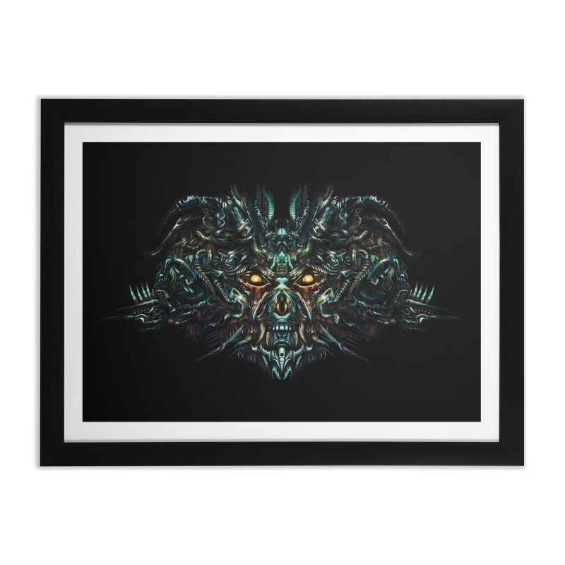 VK_SkullA in Framed Fine Art Print Black by Art of Yaky Artist Shop