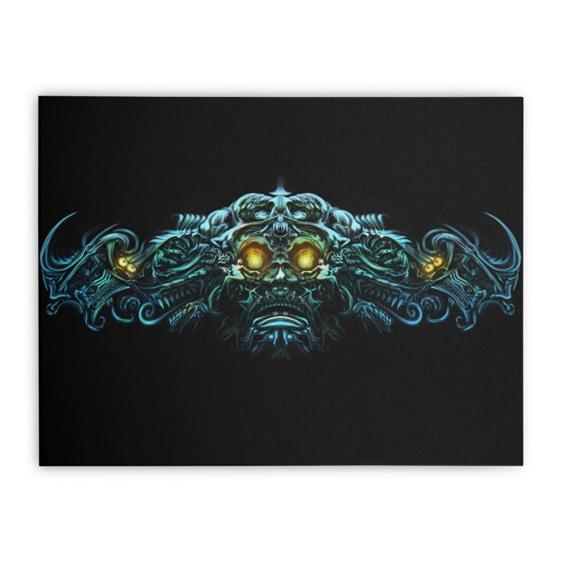 VK_Skull_B Home Stretched Canvas by Art of Yaky Artist Shop