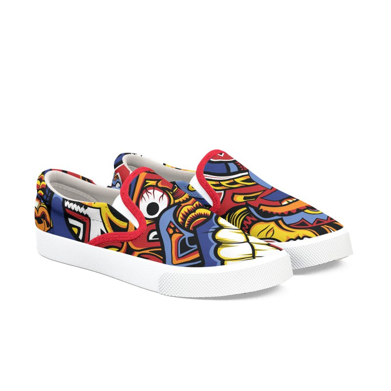 IFC_Design_C01 Men's Slip-On Shoes by Art of Yaky Artist Shop