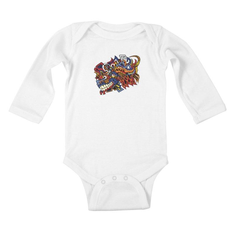 IFC_Design_C01 Kids Baby Longsleeve Bodysuit by Art of Yaky Artist Shop