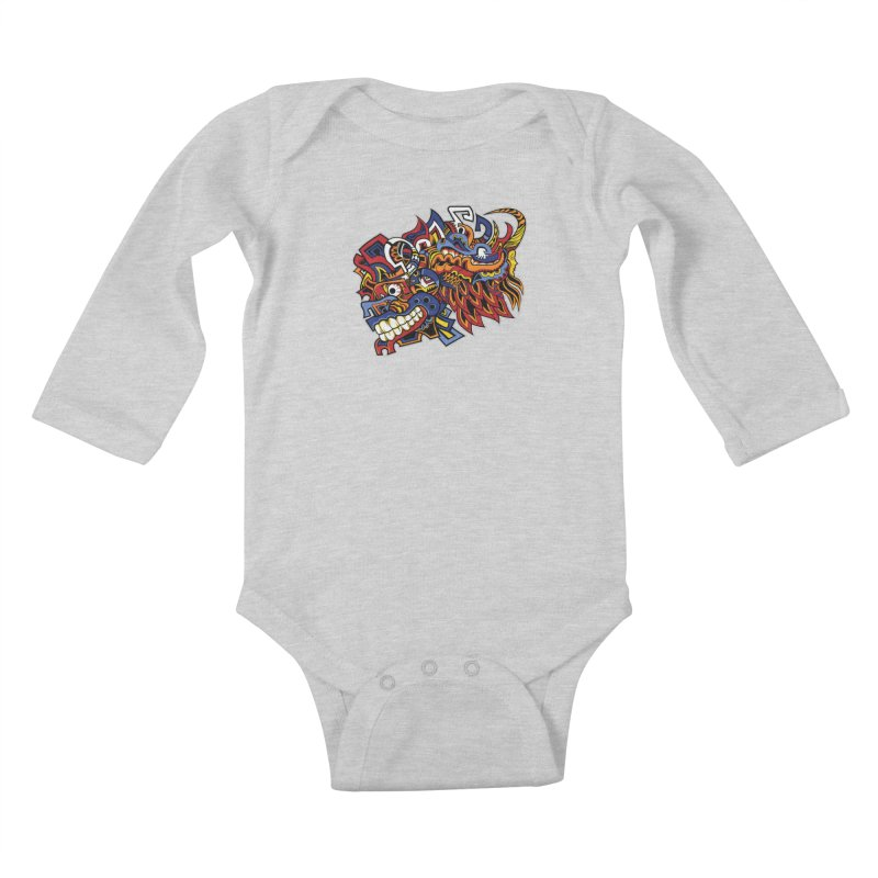 IFC_Design_C01 Kids Baby Longsleeve Bodysuit by Art of Yaky Artist Shop