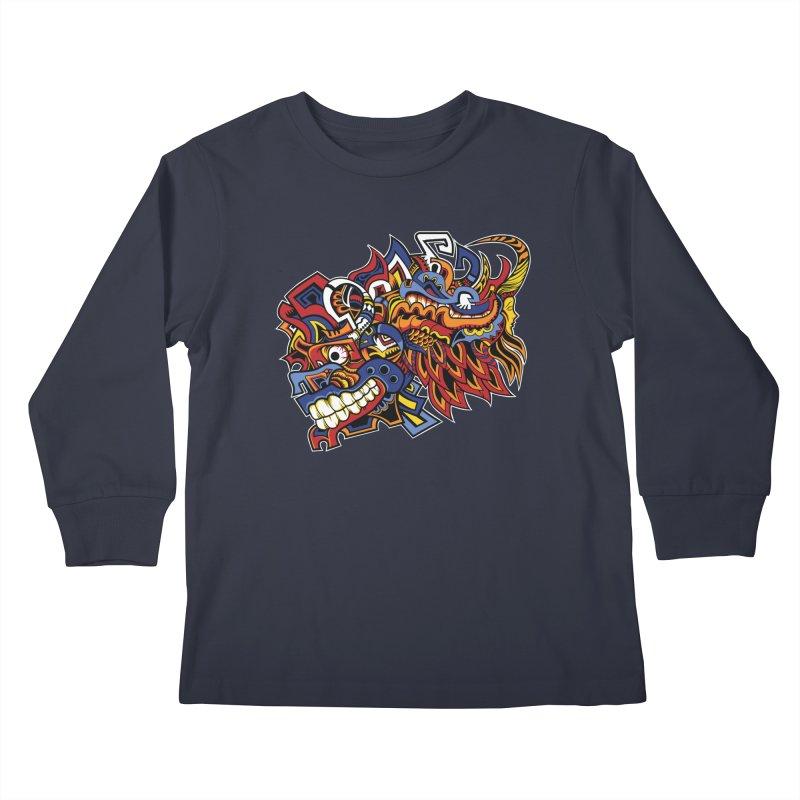 IFC_Design_C01 Kids Longsleeve T-Shirt by Art of Yaky Artist Shop