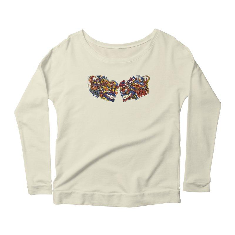 IFC_Design_C Women's Scoop Neck Longsleeve T-Shirt by Art of YakyArtist Shop