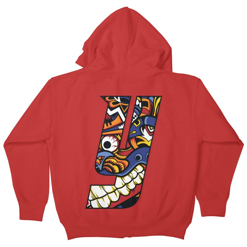 IFC_Crazy_Y_C Kids Zip-Up Hoody by Art of YakyArtist Shop