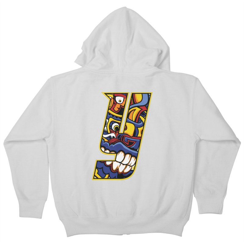 IFC_Crazy_Y_C02 Kids Zip-Up Hoody by Art of YakyArtist Shop