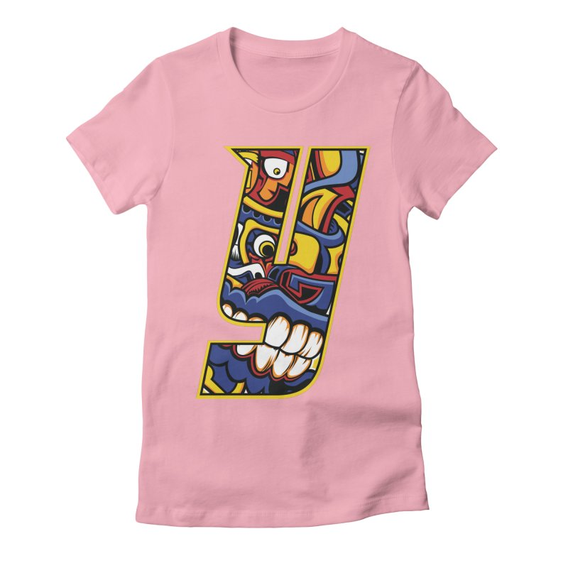 IFC_Crazy_Y_C02 Women's Fitted T-Shirt by Art of YakyArtist Shop