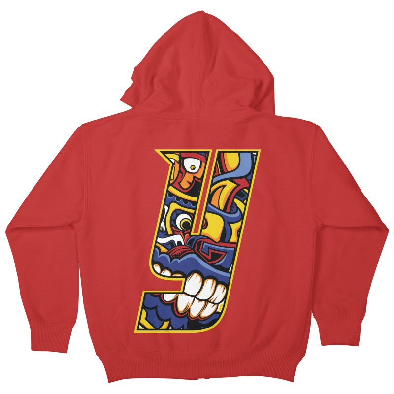 IFC_Crazy_Y_C02 Kids Zip-Up Hoody by Art of YakyArtist Shop