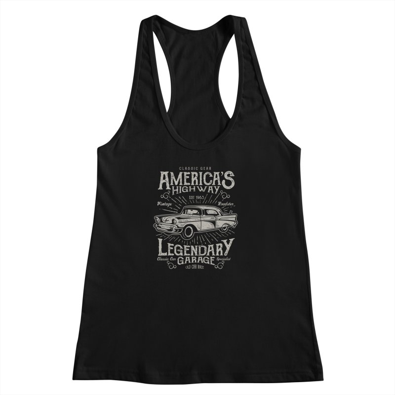 America's Highway Women's Racerback Tank by Southern Creative