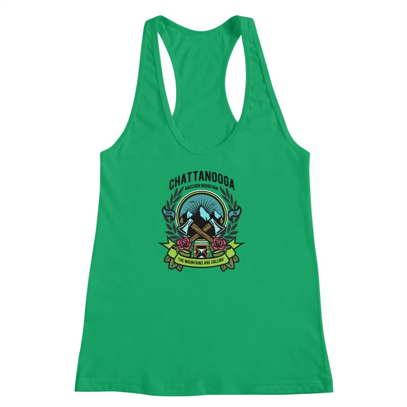 The Mountains Are Calling Women's Racerback Tank by Southern Creative
