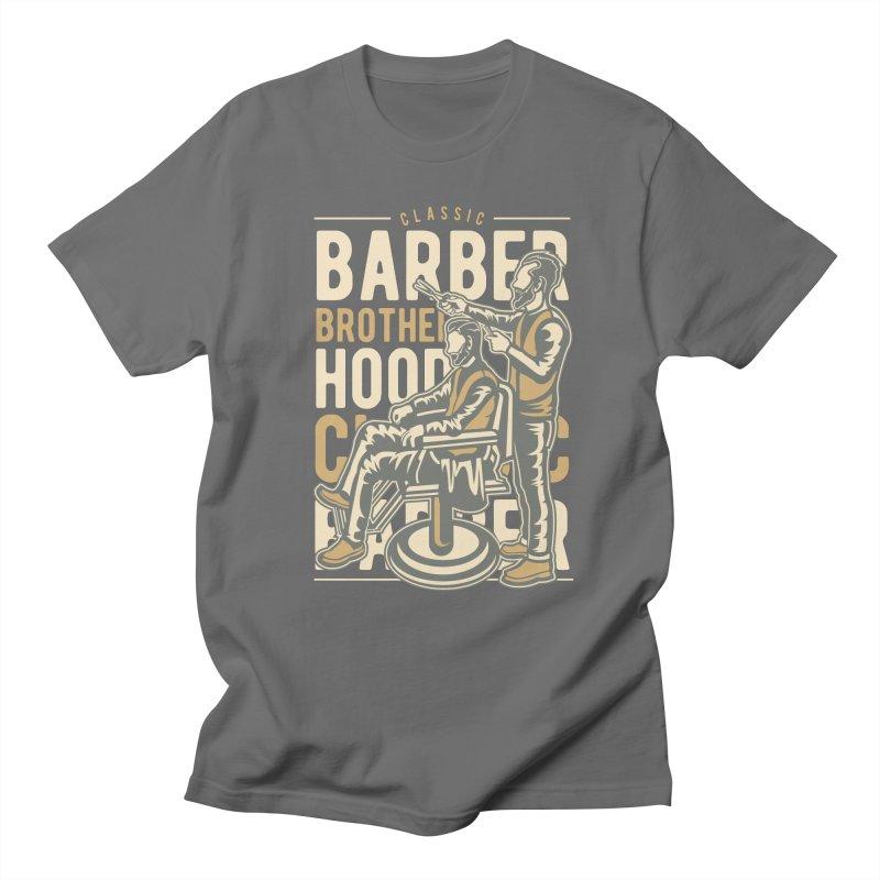 Barber Brotherhood Men's Regular T-Shirt by Southern Creative