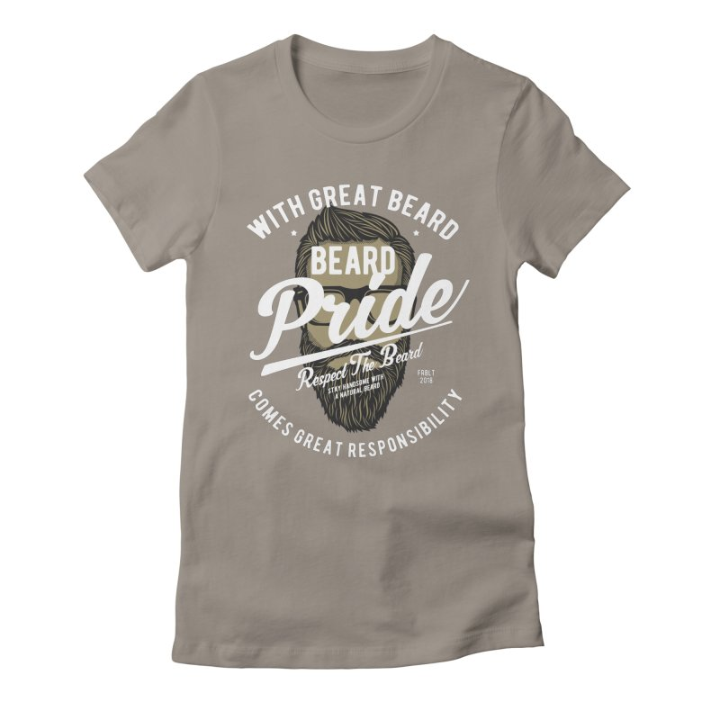 Beard Pride Women's Fitted T-Shirt by Southern Creative