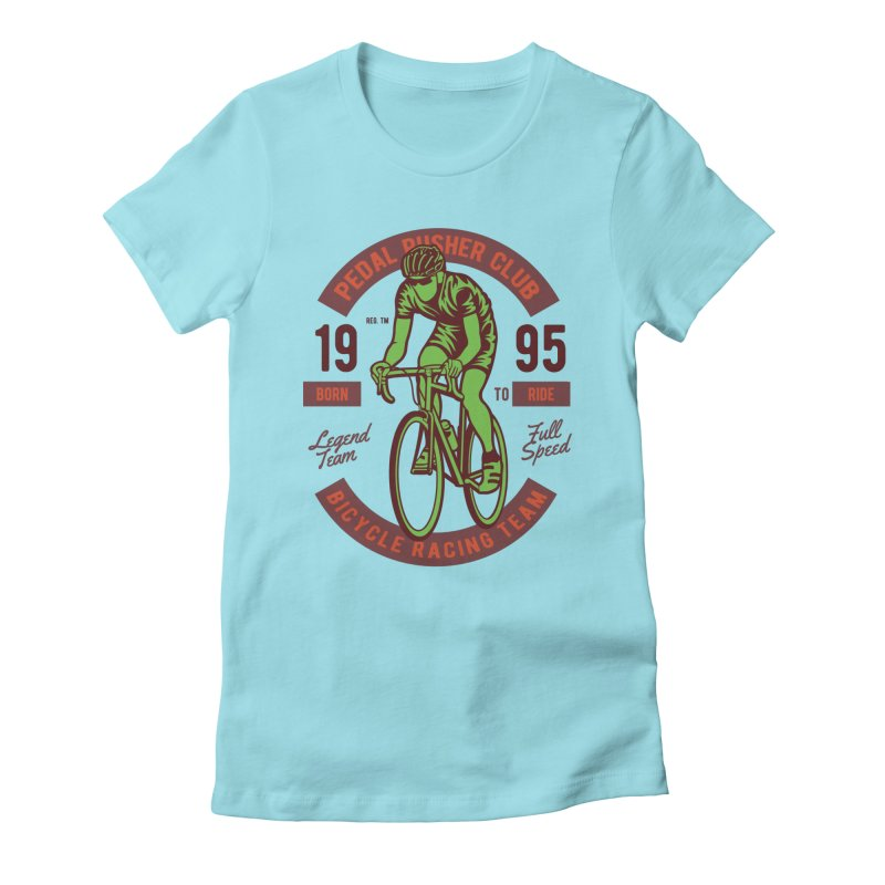 Bicycle Racing Team Women's Fitted T-Shirt by Southern Creative