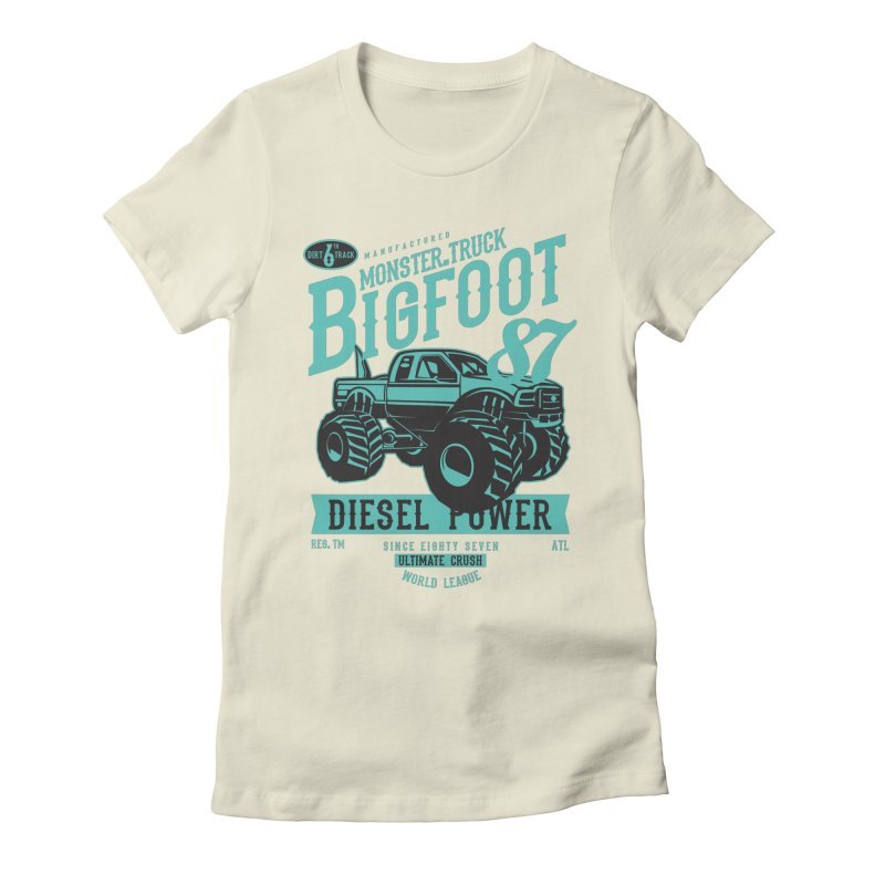 Bigfoot Women's Fitted T-Shirt by Southern Creative
