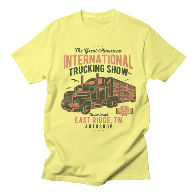 Big Truck 1 Men's Regular T-Shirt by Southern Creative