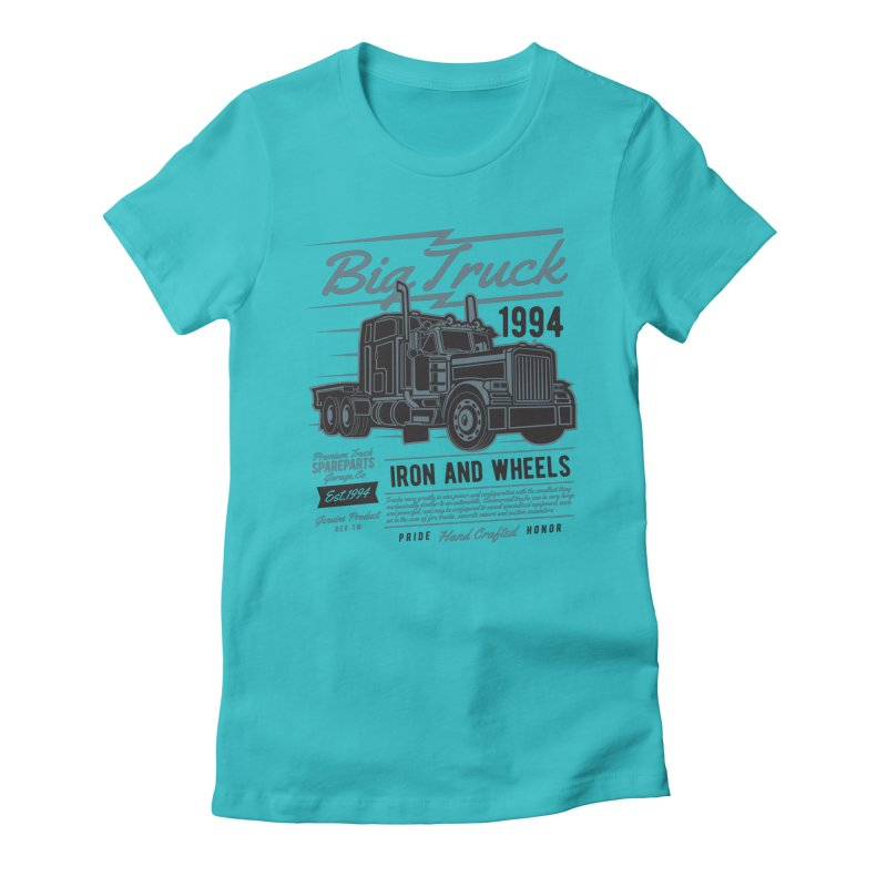 Big Truck 2 Women's Fitted T-Shirt by Southern Creative