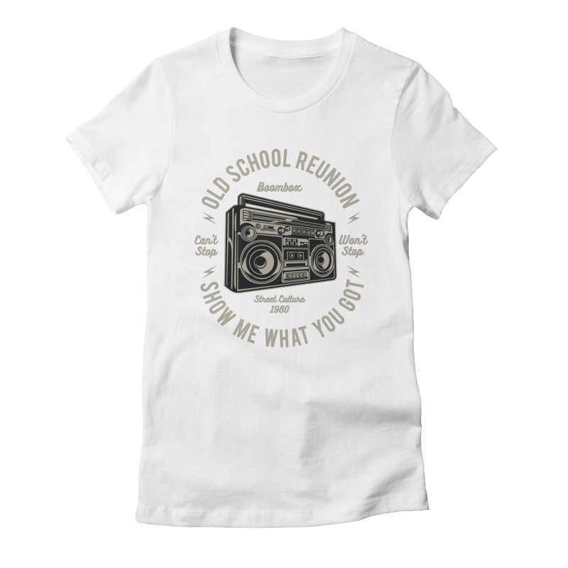 Boombox Women's Fitted T-Shirt by Southern Creative