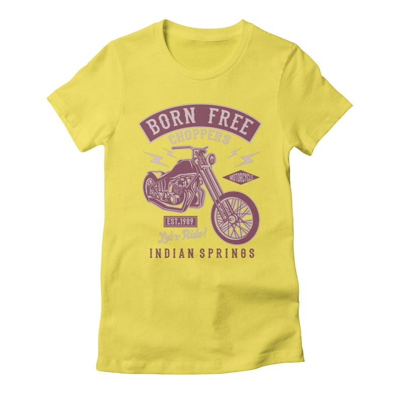 Born Free Women's Fitted T-Shirt by Southern Creative